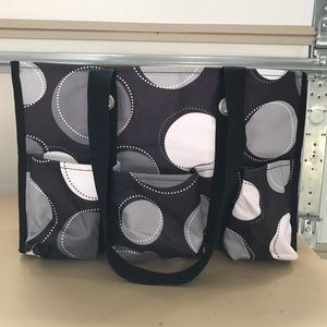 Thirty-One Patterned Tote and Organizer